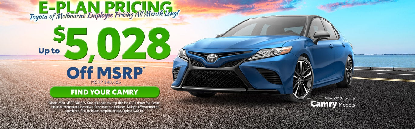 New Toyota Camry Melbourne Fl Serving Cocoa Beach