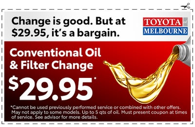 Printable Toyota Oil Change Coupons >> Service And Parts Specials Melbourne Fl Near Palm Bay